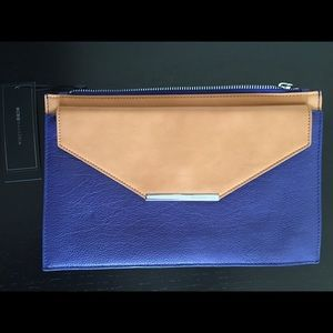 BCBG Max Azria Royal Blue Leather Clutch Handbag